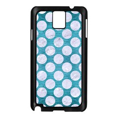 Circles2 White Marble & Teal Brushed Metal Samsung Galaxy Note 3 N9005 Case (black) by trendistuff