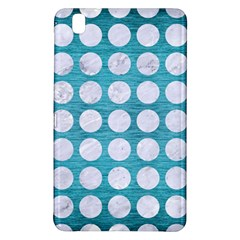 Circles1 White Marble & Teal Brushed Metal Samsung Galaxy Tab Pro 8 4 Hardshell Case by trendistuff