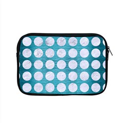 Circles1 White Marble & Teal Brushed Metal Apple Macbook Pro 15  Zipper Case by trendistuff