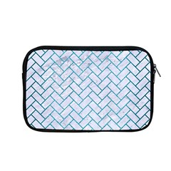 Brick2 White Marble & Teal Brushed Metal (r) Apple Macbook Pro 13  Zipper Case by trendistuff