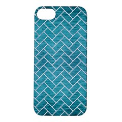 Brick2 White Marble & Teal Brushed Metal Apple Iphone 5s/ Se Hardshell Case