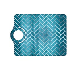Brick2 White Marble & Teal Brushed Metal Kindle Fire Hd (2013) Flip 360 Case by trendistuff