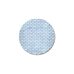 Brick1 White Marble & Teal Brushed Metal (r) Golf Ball Marker by trendistuff