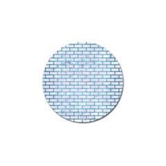 Brick1 White Marble & Teal Brushed Metal (r) Golf Ball Marker (10 Pack) by trendistuff