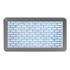 Brick1 White Marble & Teal Brushed Metal (r) Memory Card Reader (mini) by trendistuff