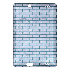 Brick1 White Marble & Teal Brushed Metal (r) Amazon Kindle Fire Hd (2013) Hardshell Case by trendistuff