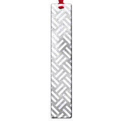 Woven2 White Marble & Silver Paint Large Book Marks by trendistuff