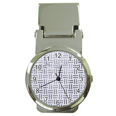 Woven1 White Marble & Silver Paint (r) Money Clip Watches by trendistuff