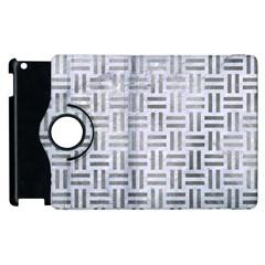 Woven1 White Marble & Silver Paint (r) Apple Ipad 2 Flip 360 Case by trendistuff