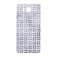Woven1 White Marble & Silver Paint (r) Samsung Galaxy Alpha Hardshell Back Case by trendistuff
