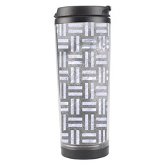 Woven1 White Marble & Silver Paint Travel Tumbler