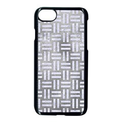 Woven1 White Marble & Silver Paint Apple Iphone 8 Seamless Case (black) by trendistuff