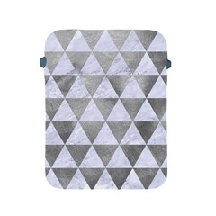Triangle3 White Marble & Silver Paint Apple Ipad 2/3/4 Protective Soft Cases by trendistuff