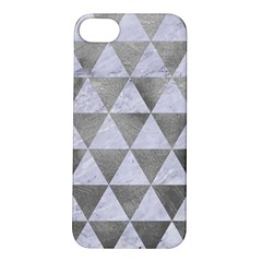 Triangle3 White Marble & Silver Paint Apple Iphone 5s/ Se Hardshell Case