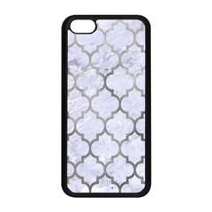 Tile1 White Marble & Silver Paint (r) Apple Iphone 5c Seamless Case (black) by trendistuff