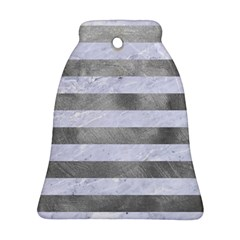 Stripes2white Marble & Silver Paint Ornament (bell) by trendistuff