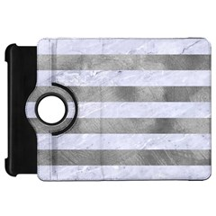 Stripes2white Marble & Silver Paint Kindle Fire Hd 7  by trendistuff