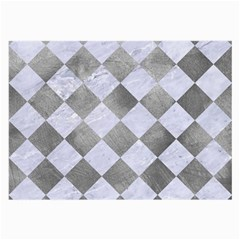 Square2 White Marble & Silver Paint Large Glasses Cloth by trendistuff