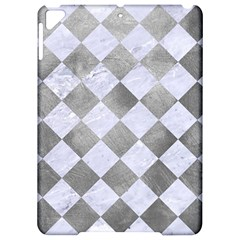 Square2 White Marble & Silver Paint Apple Ipad Pro 9 7   Hardshell Case