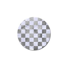 Square1 White Marble & Silver Paint Golf Ball Marker by trendistuff
