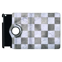 Square1 White Marble & Silver Paint Apple Ipad 2 Flip 360 Case by trendistuff