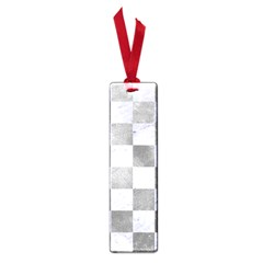 Square1 White Marble & Silver Paint Small Book Marks by trendistuff
