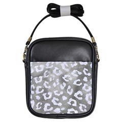Skin5 White Marble & Silver Paint (r) Girls Sling Bags by trendistuff