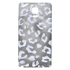 Skin5 White Marble & Silver Paint (r) Galaxy Note 4 Back Case by trendistuff