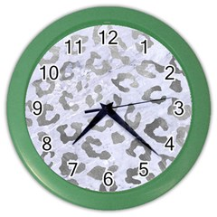Skin5 White Marble & Silver Paint Color Wall Clocks