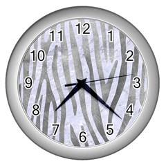 Skin4 White Marble & Silver Paint Wall Clocks (silver)  by trendistuff