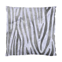 Skin4 White Marble & Silver Paint Standard Cushion Case (one Side) by trendistuff