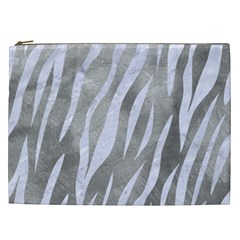 Skin3 White Marble & Silver Paint Cosmetic Bag (xxl)  by trendistuff