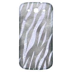 Skin3 White Marble & Silver Paint Samsung Galaxy S3 S Iii Classic Hardshell Back Case by trendistuff