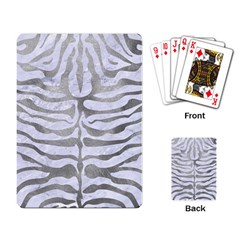 Skin2 White Marble & Silver Paint (r) Playing Card by trendistuff