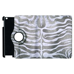 Skin2 White Marble & Silver Paint Apple Ipad 2 Flip 360 Case by trendistuff