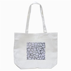 Skin1 White Marble & Silver Paint Tote Bag (white) by trendistuff