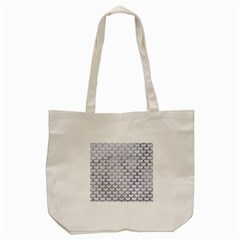 Scales3 White Marble & Silver Paint (r) Tote Bag (cream) by trendistuff