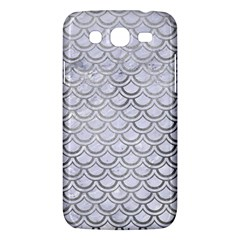 Scales2 White Marble & Silver Paint (r) Samsung Galaxy Mega 5 8 I9152 Hardshell Case  by trendistuff