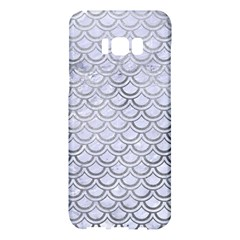 Scales2 White Marble & Silver Paint (r) Samsung Galaxy S8 Plus Hardshell Case