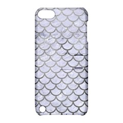 Scales1 White Marble & Silver Paint (r) Apple Ipod Touch 5 Hardshell Case With Stand by trendistuff