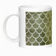 Scales1 White Marble & Silver Paint Night Luminous Mugs by trendistuff