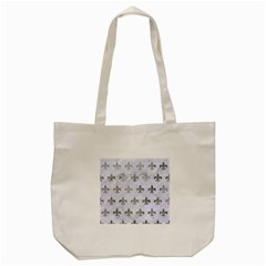 Royal1 White Marble & Silver Paint Tote Bag (cream) by trendistuff