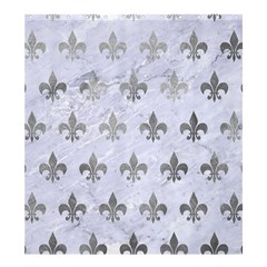 Royal1 White Marble & Silver Paint Shower Curtain 66  X 72  (large)