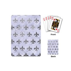 Royal1 White Marble & Silver Paint Playing Cards (mini)  by trendistuff
