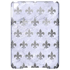 Royal1 White Marble & Silver Paint Apple Ipad Pro 9 7   Hardshell Case