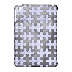 Puzzle1 White Marble & Silver Paint Apple Ipad Mini Hardshell Case (compatible With Smart Cover) by trendistuff