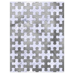 Puzzle1 White Marble & Silver Paint Drawstring Bag (large) by trendistuff