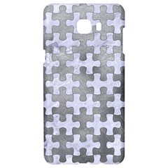 Puzzle1 White Marble & Silver Paint Samsung C9 Pro Hardshell Case  by trendistuff