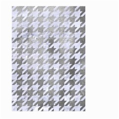 Houndstooth1 White Marble & Silver Paint Large Garden Flag (two Sides) by trendistuff
