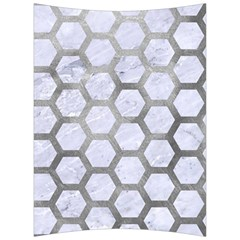 Hexagon2 White Marble & Silver Paint (r) Back Support Cushion by trendistuff